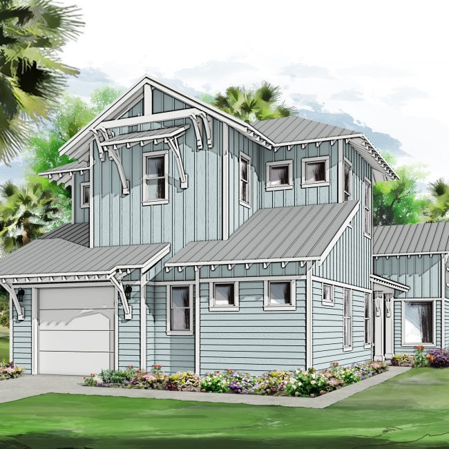 Osprey Canal Cottage Rendering Unit A